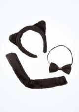 Conjunto de disfraz de gato negro imagen principal. [Negro]