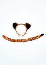 Conjunto de disfraz de tigre Estampado frontal. [Estampado]