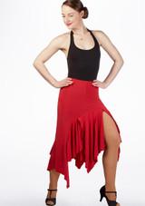 Falda de Baile Juliana Move Dance Rojo frontal. [Rojo]