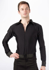 Move Mateo hombre camisa latino Black [Negro]