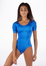 Alegra Shiny Rosalie Leotard Azul frontal #2. [Azul]