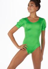 Alegra Shiny Rosalie Leotard Verde frontal. [Verde]