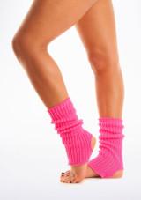 Calentadores con tira para el pie, 40 cm Rosa #2. [Rosa]