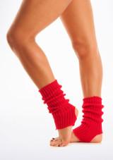 Calentadores con tira para el pie, 40 cm Rojo. [Rojo]