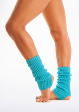 Calentadores con tira para el pie, 40 cm Azul #2. [Azul]