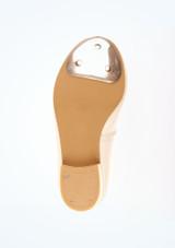 Tappers and Pointers Zapato claque tacon bajo blanco #3. [Blanco]