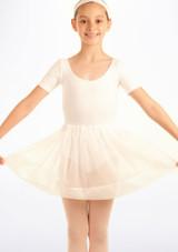 Falda de Ballet de Gasa con Lunares Tappers and Pointers Blanco. [Blanco]