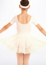 Falda de Ballet de Gasa con Lunares Tappers and Pointers Blanco #2. [Blanco]