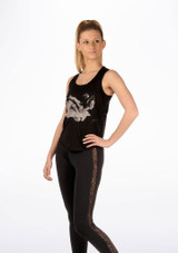 So Danca Camiseta sin mangas Negro. [Negro]