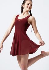 Vestido de gasa Evie de Move Rojo frontal. [Rojo]