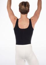 Maillot de Ballet Hombre Joshua Move Dance Blanco frontal. [Negro]