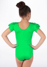 Alegra Girls Shiny Rosalie Leotard Verde trasera. [Verde]