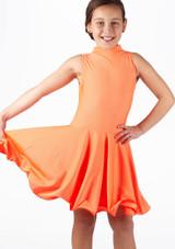 Vestido latino nina Adrina de Move Naranja. [Naranja]