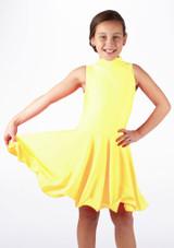 Vestido latino nina Adrina de Move Amarillo. [Amarillo]