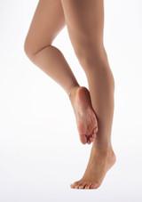 Medias Ballet en Microfibra sin Pie Move Dance Bronzeado Claro Marrón Claro frontal. [Marrón Claro]