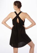 So Danca vestido con espalda cruzada Negro #2. [Negro]