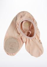 Zapatilla Pro de ballet suave con suela partida de Repetto Rosa #2. [Rosa]