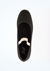 Zapato de caracter de lona con tacon cubano Julie Move Negro #2. [Negro]