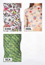 Top Patterned Echo de Alegra Estampado muestra de color #7.
