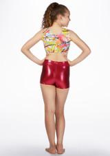 Top Patterned Crop Betty chica de Alegra Estampado muestra de color #9.