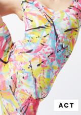Falda de Baile Nina Estampada y Acampanada Alegra Estampado muestra de color #4. [Estampado]