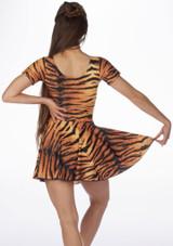 Falda de Baile Nina Estampada y Acampanada Alegra Estampado trasera #2. [Estampado]
