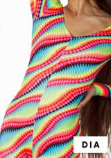 Falda de Baile Nina Estampada y Acampanada Alegra Estampado muestra de color #7. [Estampado]