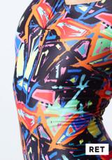 Mono de Baile Nina Estampado Rhona Alegra muestra de color #5.