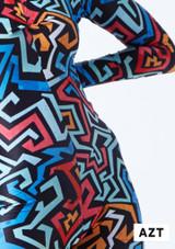 Mono de Baile Nina Estampado Rhona Alegra muestra de color. [Estampado]