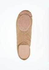 Zapatillas de Jazz con Suela Partida Alegra Tostado Marrón Claro #4. [Marrón Claro]