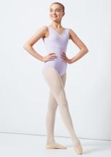 Maillot Ballet Sin Mangas Patty Move Dance Violeta frontal. [Violeta]