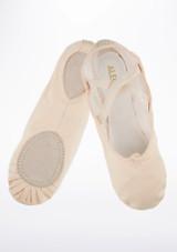 Zapatilla ballet lona suela partida Alegra Rosa #2. [Rosa]