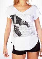 Camiseta Ballet con Diseno So Danca Blanco #3. [Blanco]