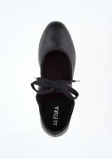 Zapato claque basico con cordonera Alegra Negro superior. [Negro]