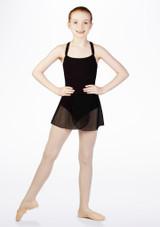 Falda de Ballet Cruzada de Gasa So Danca Negro. [Negro]
