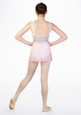 Falda de Ballet Cruzada de Gasa So Danca Rosa #2. [Rosa]
