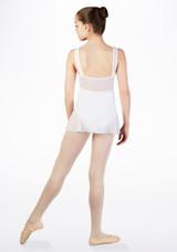 Falda de Ballet Cruzada de Gasa So Danca Blanco #2.