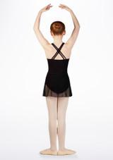 Falda de Ballet Cruzada de Gasa So Danca Negro #2. [Negro]