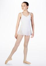Falda de Ballet Cruzada de Gasa So Danca Blanco.