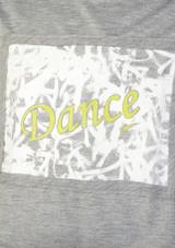 Camiseta Danza Nina Corta So Danca Gris frontal #2. [Gris]
