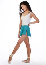 Falda elastica Ballet Rosa Azul frontal #2. [Azul]
