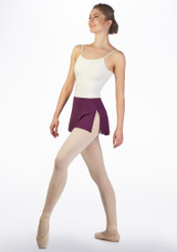 Falda elastica Ballet Rosa Violeta frontal. [Violeta]