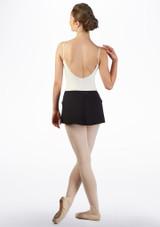 Falda elastica Ballet Rosa Negro trasera. [Negro]