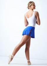 Falda de Ballet Elástica Ballet Rosa Azul Real  Detrás-1 [Azul Real ]