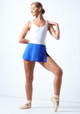 Falda de Ballet Elástica Ballet Rosa Azul Real  Delante-1 [Azul Real ]