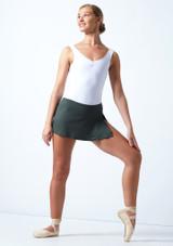 Falda de Ballet Elástica Ballet Rosa Caqui  Delante-1 [Caqui ]