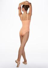 Maillot Ballet Chica con Tirantes Anchos Ballet Rosa frontal. [Rosa]