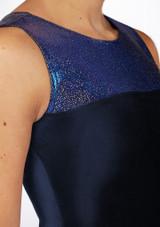 Maillot Gimnasia Nina sin Mangas Spirit Alegra Azul lateral. [Azul]