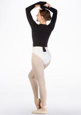 Rebeca ballet con ojal para pulgar Move Negro trasera. [Negro]