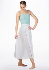 Falda larga de ballet Grishko Blanco frontal. [Blanco]